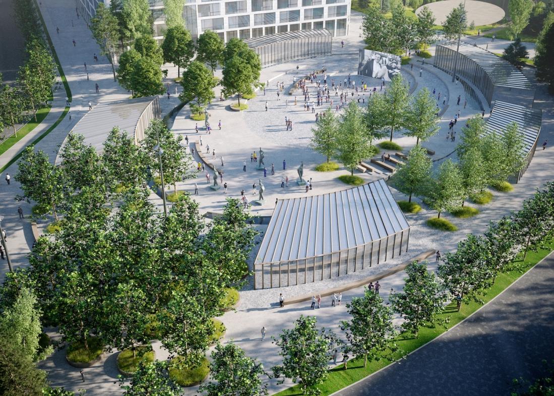 Комплекс лечебных садов в Сколково будет использоваться круглогодично