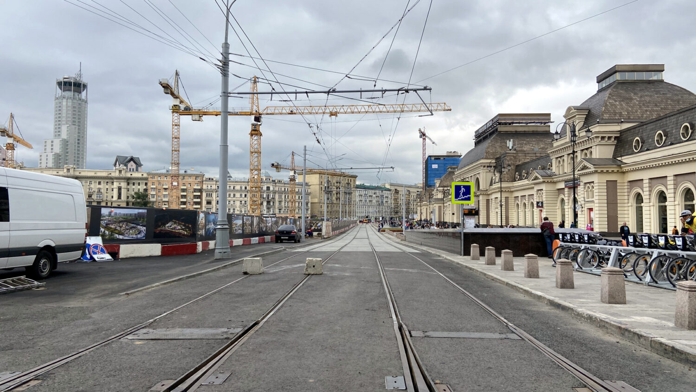 Трамвайное движение у Павелецкого вокзала восстановят в воскресенье