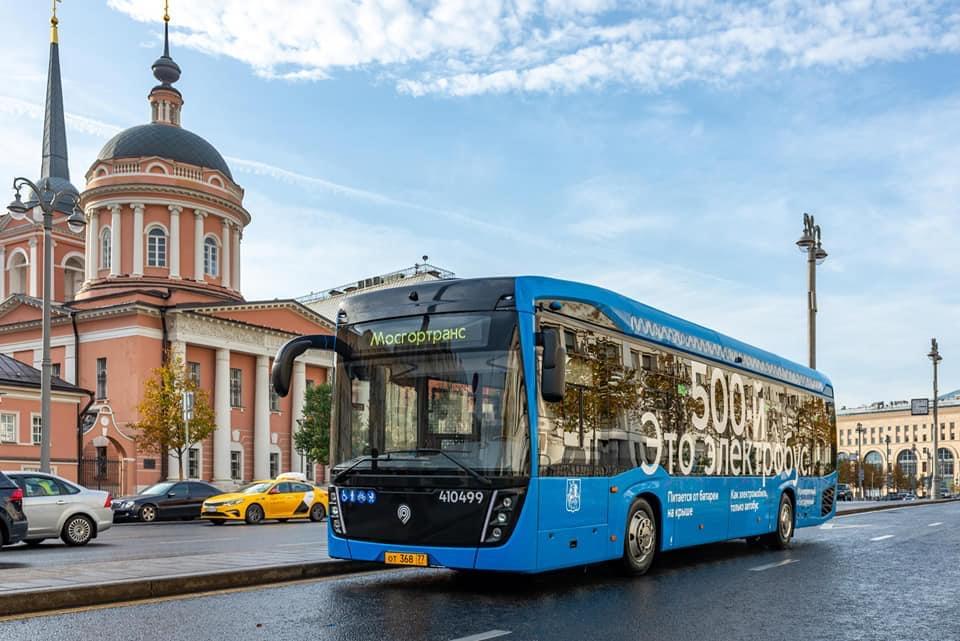 Парк московских электробусов увеличился до 500 единиц