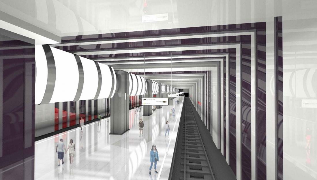 "Станция метро ""Бачуринская"" будет выполнена в стиле супрематизма"