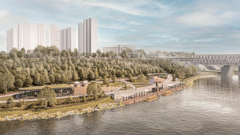 В районе Москворечье-Сабурово благоустроят набережную Москвы-реки