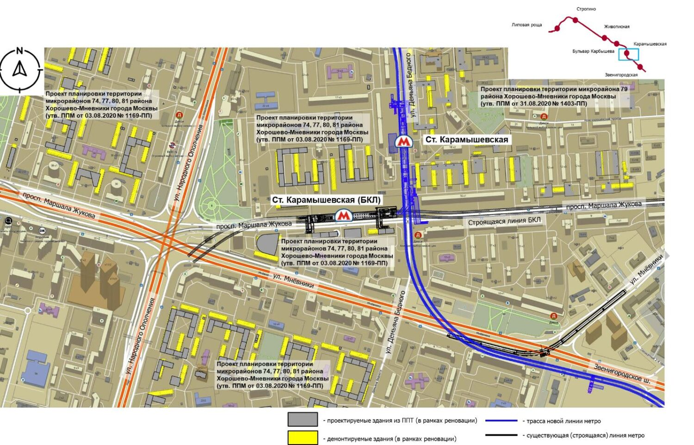 Протяженность первого участка Рублево-Архангельской линии метро превысит 12 км