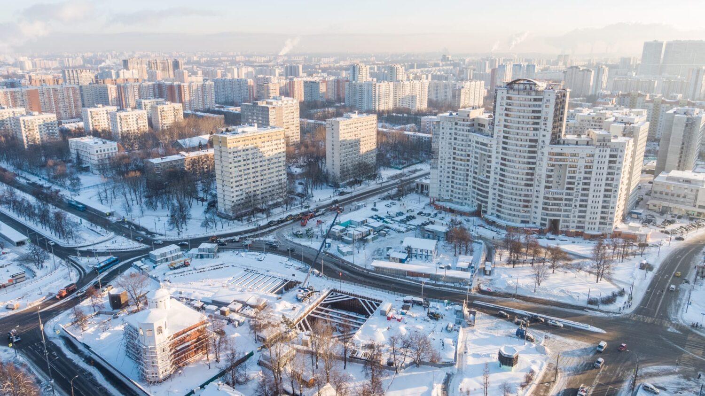 """Собянин рассказал о ходе реконструкции станции метро """"Каховская"""""""