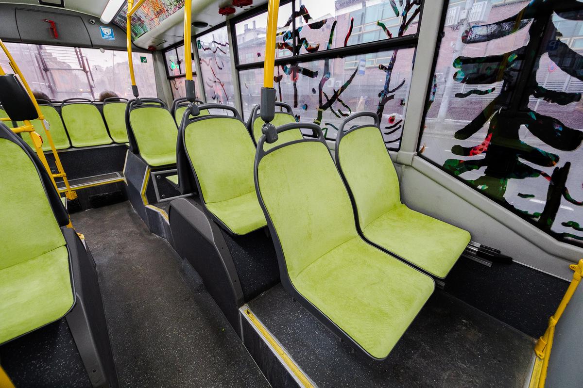 На музейном маршруте появился троллейбус, расписанный художницей Ириной Кориной