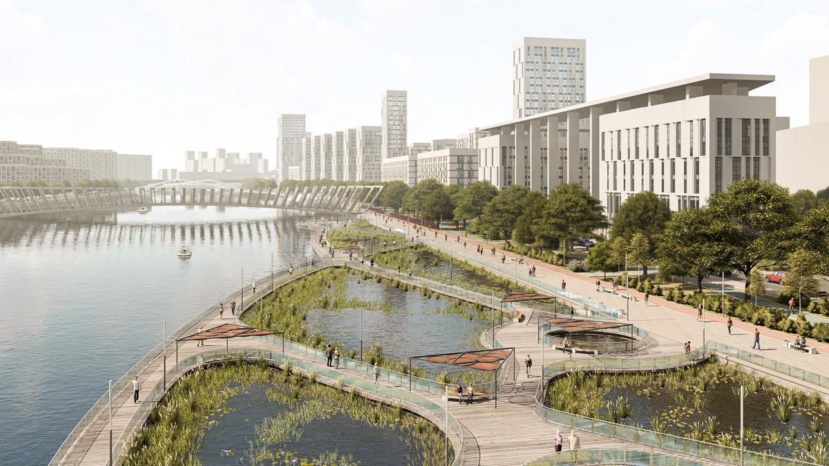 Набережную Москвы-реки благоустроят на юге столицы