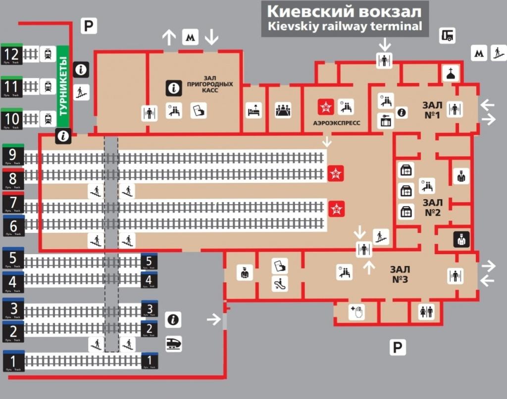 На Киевском вокзале вводится последовательная нумерация путей