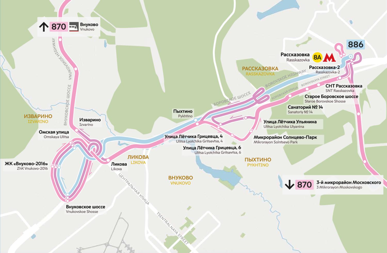 В новой Москве изменятся трассы двух автобусных маршрутов