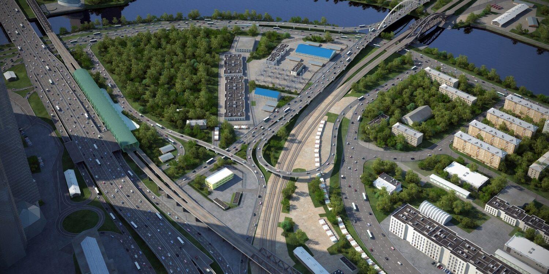 Четыре эстакады возведут при реконструкции развязки на Шелепихинской набережной