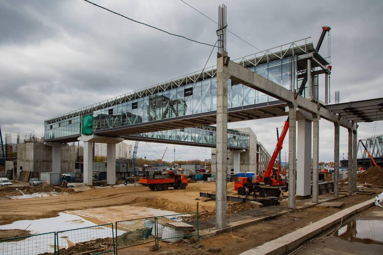 "Строительство станции МЦД-2 ""Печатники"" завершено на 60%"