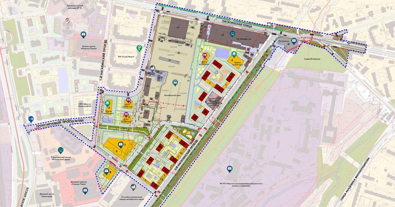 """Жилые дома площадью более 400 тысяч """"квадратов"""" построят в районе Нагатино-Садовники"""