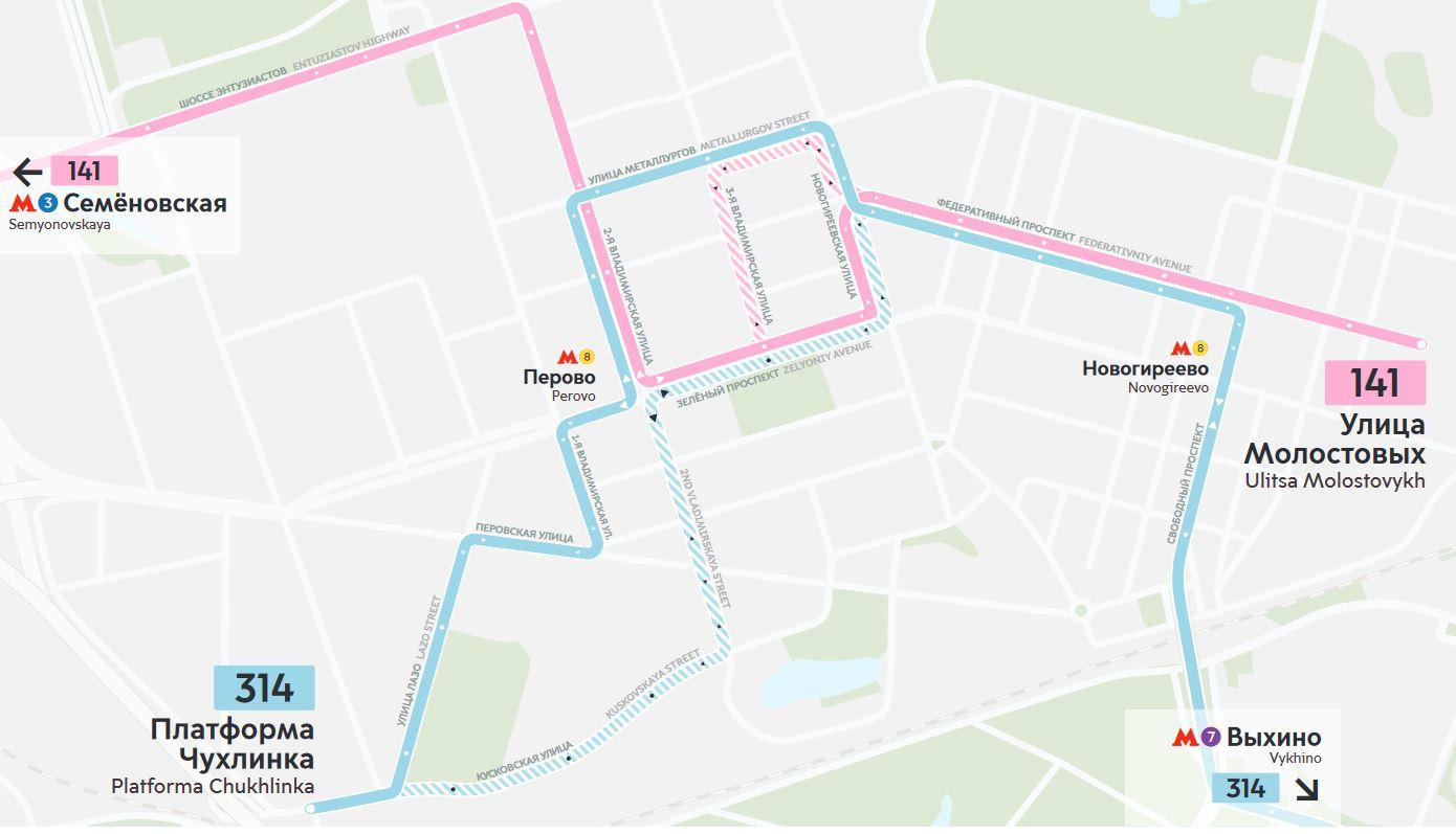 Шесть автобусных маршрутов Москвы изменятся с 30 июня - 3 июля