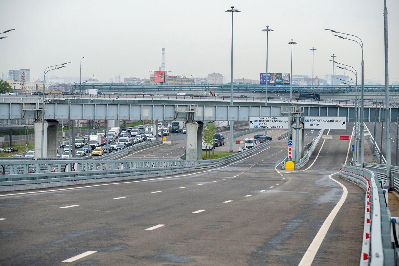 Путепровод на участке ЮВХ от Рязанского проспекта до ТТК открыт для движения