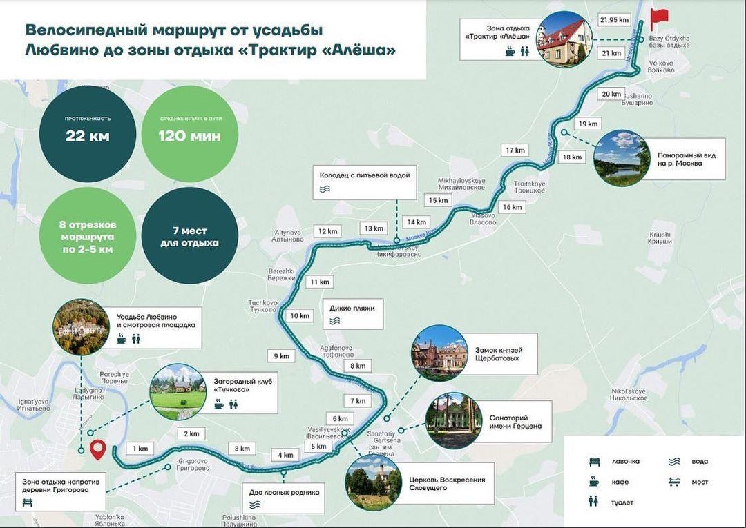 Тучково и Звенигород в Подмосковье свяжет веломаршрут