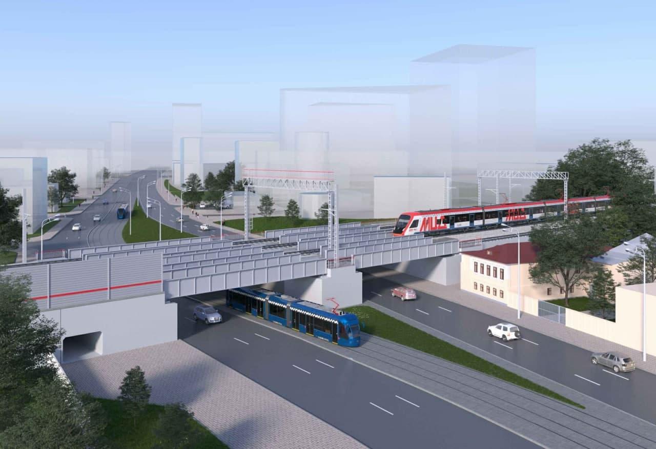 Два путепровода построят в Москве для запуска МЦД-3
