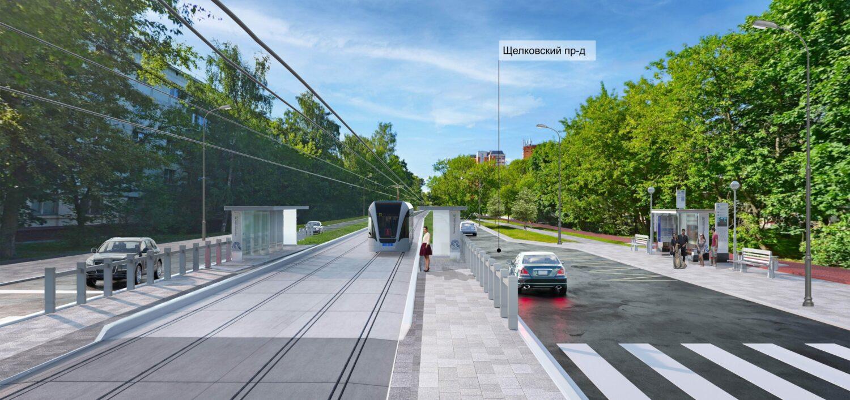 Трамвайную линию протяженностью почти 6 км планируется построить на востоке Москвы