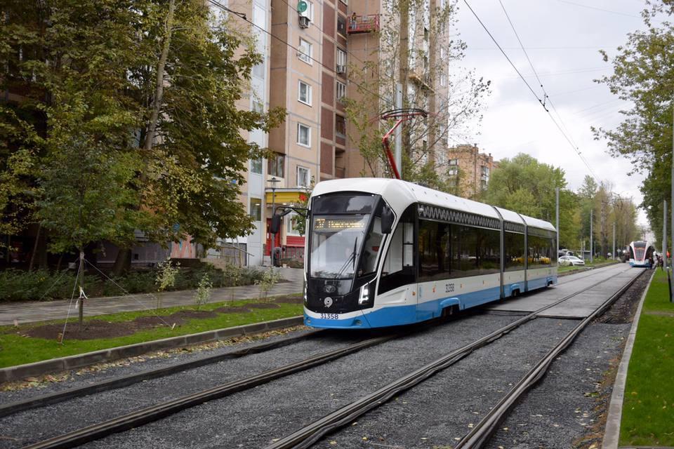 Приподнятые платформы для трамваев появятся в Новогиреево после ремонта путей
