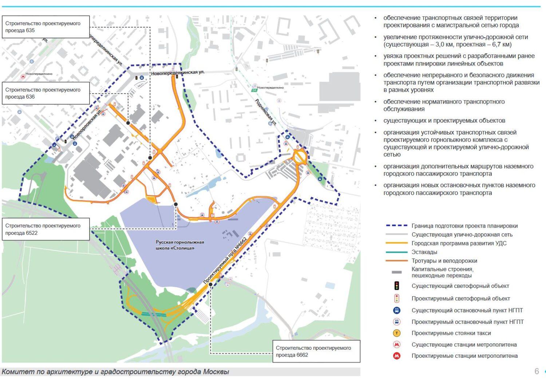 Дороги построят на западе Москвы для обслуживания горнолыжной школы